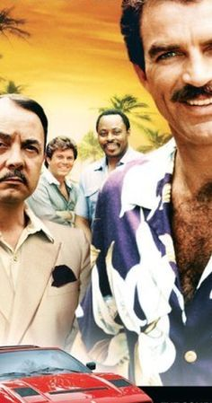 Magnum PI...Created by Donald P. Bellisario, Glen A. Larson.  With Tom Selleck, John Hillerman, Roger E. Mosley, Larry Manetti. The adventures of a Hawaii based private investigator.