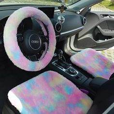 Cute Cars Accessories Discover Fluffy Car Accessories- Steering wheel cover seat cover headrest pillow seat belt cover - Warming and cozy for Winter Fluffy Car Accessories- Steering wheel cover seat cover headrest pil Carsoda Car Interior Accessories, Car Accessories For Girls, Winter Accessories, Audi R8 V10, Car Steering Wheel Cover, Steering Wheels, Car Interior Decor, Boat Interior, Interior Ideas