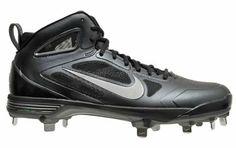 New NIKE Air Huarache Carbon Elite Mens Metal Baseball Cleats - Black - Size 10