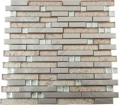 Flicker Tile  Random Brick Series, Random Bricks, Caramel, Glossy, Bronze/Copper, Glass and Metal