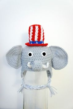 Republican Elephant Hat Republican Party GOP by stylishbabyhats