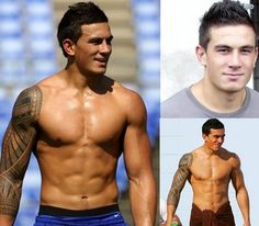 Rugby boys are super sexy, mmmmhhhhmmmm! Rugby player for New Zealand team, All Blacks. Sonny Bill Williams Tattoo, Sonny Williams, Hot Rugby Players, All Blacks Rugby, New Zealand Rugby, Athletic Men, Sexy Men, Hot Guys, Watch Rugby