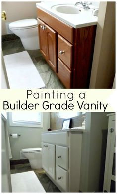#Paint a builder grade vanity. www.chatfieldcourt.com
