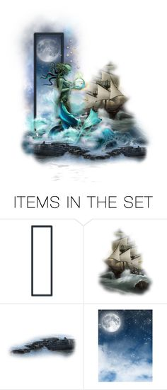 """""""She Came from The Sea"""" by raynefyre ❤ liked on Polyvore featuring art"""