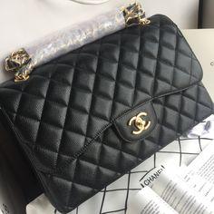 74be121a255 Chanel woman 2.55 classic flap bag jumbo caviar leather original leather