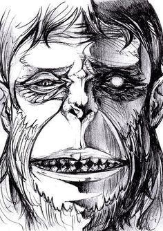 Shingeki no Kyojin (Attack on Titan) the stupid ape beast Titan...I know it's a fictional monster, but I hate its guts.