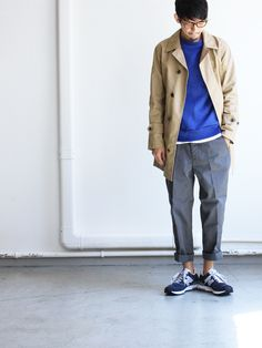 A VONTADE ANTIQUE HEAVY DRILL TAPERED CROPPED TROUSERS : Strato