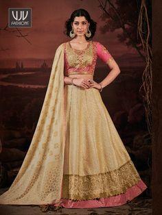 Rs6,900.00 Silk Anarkali Suits, Floor Length Anarkali, Choli Designs, Lehenga Choli Online, Pink Parties, Traditional Sarees, Lovely Dresses, Designer Wear, Designer Dresses