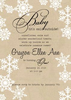 vintage winter invitation idea for first birthday party-simply social blog
