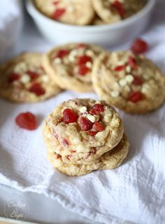 Strawberries and Cream Cookies - Cookies and Cups