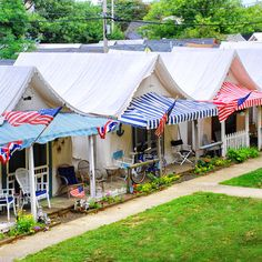 Historic tent cottages at Ocean Grove, New Jersey