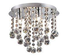Plafondlamp Ann, chroom, Ø 26 cm