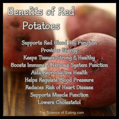 The Red Potato provides levels of phenolic compounds (which offer antioxidant protection and other health benefits) that rival the levels found in some vegetables that are traditionally regarded as nutrition powerhouses, including broccoli, spinach and Brussels sprouts.