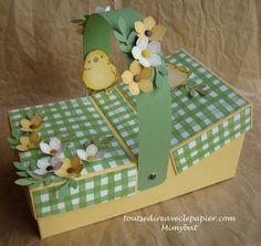 Panier de Pâques style pique-nique