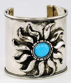 "#pagan #wicca #witchcraft #celtic #druid #tarot Jeweled Sun Cuff bracelet 2.5"" $15.95 Turquoise Jewelry, Turquoise Bracelet, Silver Jewelry, Turquoise Color, Moon Crafts, Wiccan Jewelry, Jewelry Bracelets, Jewlery, Jewelry Accessories"