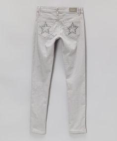 Gray Skinny Jeans - Girls