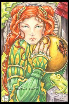 The Frog Prince 5x7 Art Print by natamon on Etsy, $7.00