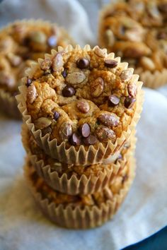 Made with no flour or oil, these Pumpkin Oat Greek Yogurt Muffins make for a deliciously healthy breakfast or snack! And they're super easy to whip up!