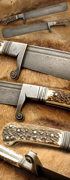 Nová stránka 1 look at that guard! Cool Knives, Knives And Tools, Knives And Swords, Knife Template, Medieval Weapons, Cold Steel, Custom Knives, Damascus Steel, Knife Making