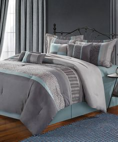 Another great find on #zulily! Aqua Corrine Comforter Set #zulilyfinds