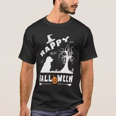 STABYHOUN Happy Halloween Dog Lovers Gift T-Shirt - dog puppy dogs doggy pup hound love pet best friend