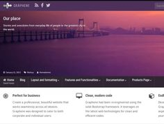 Graphene (40 000+ stiahnutí) Blog Layout, Wordpress, Coding, World, Life, Beautiful, The World, Programming