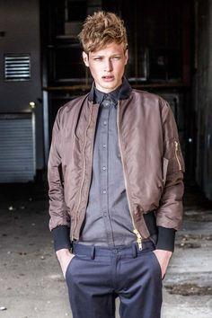 Frans Hagson (26) Bomber Jacket, Leather Jacket, Models, Jackets, Fashion, Studded Leather Jacket, Templates, Down Jackets, Moda