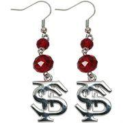 Florida State Seminoles (FSU) Ladies Beaded Dangle Earrings