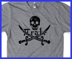 Pirate t shirt funny math shirt S-3XL. $14.99, via Etsy.