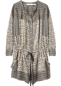 Isabel Marant - Hana Printed cotton-voile playsuit from Net-A-Porter Black And White Outfit, Estilo Hippie Chic, Look Fashion, Womens Fashion, Diy Vetement, Kaftan, Passion For Fashion, Dress To Impress, What To Wear