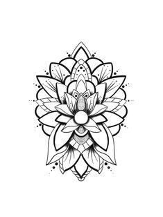 Line Art Tattoos, Mini Tattoos, Body Art Tattoos, Tattoo Drawings, Tatoos, Geometric Tattoo Design, Mandala Tattoo Design, Tattoo Designs, Mandalas Painting