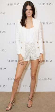 Kendall Jenner in Le Lis Blanc attends the brand's clothing line photocall in Brazil. #bestdressed