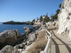 Sentier Littoral on Cap d'Ail toward Pointe des Douaniers Cap D'ail, Haute Provence, Cruise Port, French Riviera, South Of France, Paths, Scenery, World, Beach