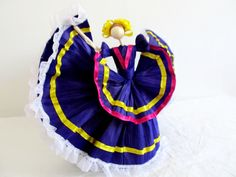 Mexican Corn husk dancer doll by MEXNIA on Etsy