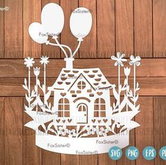 SVG / PDF Wedding Day Papercut Template ceremony