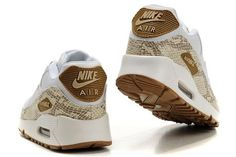 bf94107a0d9af6 Womens Nike Air Max 90 Shoes White Gold Camo