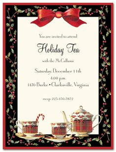 CHRISTMAS TEA PARTIES - Google Search
