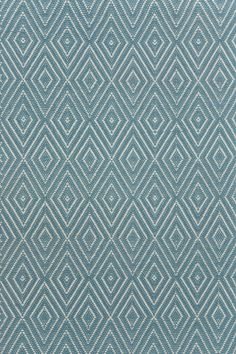Diamond Slate/Light Blue Indoor/Outdoor Rug | Dash & Albert Rug Company