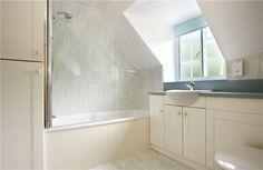 built in shower bathtub