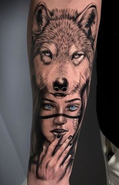 Discover recipes, home ideas, style inspiration and other ideas to try. Wolf Tattoos Men, Leg Tattoos Women, Animal Tattoos, Tattoos For Guys, Wolf Tattoo Forearm, Wolf Tattoo Sleeve, Sleeve Tattoos, Subtle Tattoos, Pretty Tattoos