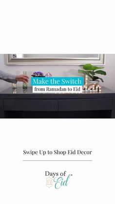 We're halfway through this historic holy month and we're so excited to start making the switch to our favorite Eid products! Check out our full line of Eid décor on our website, link in bio. #daysofeid