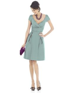 Alfred Sung Style D502 in Atlantis adorable and classy bridesmaids dress