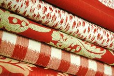Duralee Fabrics in red really rock the house!