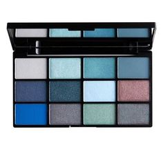 NYX Professional Makeup In Your Element Shadow Palette Water- A limited-edition palette featuring 12 water-inspired tones of ultra-velvety eyeshadow and pigment, plus a generously sized mirror. Mineral Cosmetics, Nyx Cosmetics, Makeup Crew, Diy Beauty Makeup, Beauty Bar, Eyes Game, Perfume, Eye Palette, Blue Eyeshadow Palette