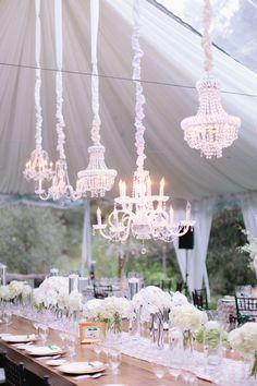 #chandelier Photography: Marin Kristine Photography - marinkristine-blog.com Wedding Venue: Meadowood - meadowood.com Floral Design: Julie Stevens Design - juliestevensdesign.com