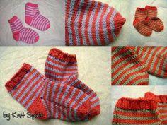tuto tricot - Petites chaussettes rayées pour petits pieds