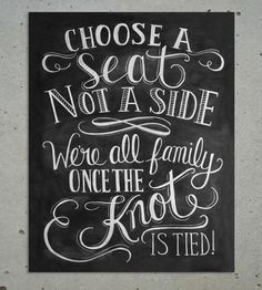 Choose A Seat Chalkboard Art Print by Lily & Val on Scoutmob Shoppe