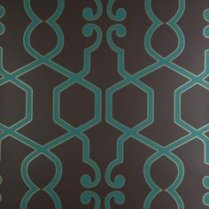Gated Double Roll Wallpaper in Teal