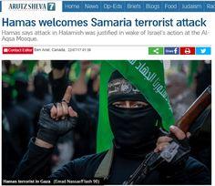 Hamas es el mejor exponente de la enferma sociedad palestina, una sociedad que festeja el asesinato de inocentes e inocentes como ha ocurrido esta noche tras la masacre de Halamish.
