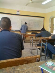 in class (high school) arabic teacher